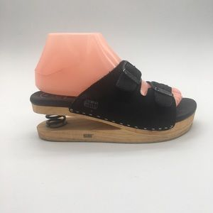 J. Rubio Black Sandal Z-Coil Springheel Suede